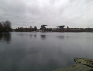 Husky Stadium from Washington Park